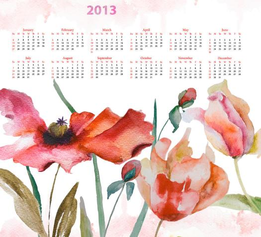 template-for-calendar-2013-regina-jershova