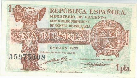 1 Peseta Emision 1937-1