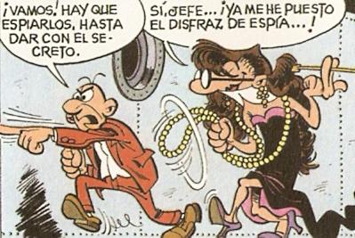 Mortadelo y Filemón por Ibañez (disfraz de Mata Hari)