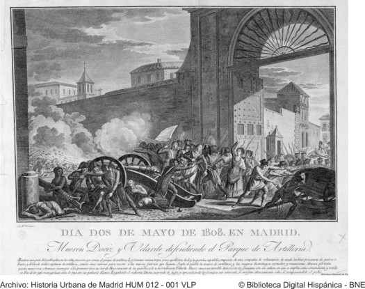2 de mayo 1808 madrid daoiz y velarde HUM2012-VLP-BNE