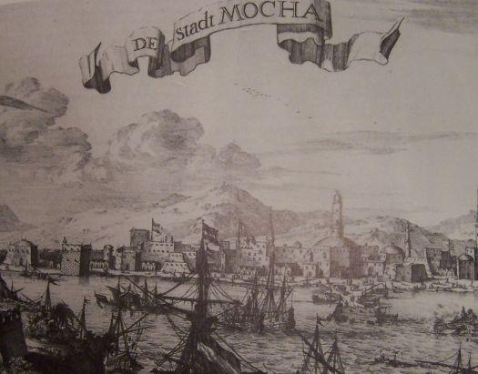 Barcos de la compañía Holandesa India del Este (VOC) en el Puerto de Moca_fuente Reinders and Wijsenbeek, 1994