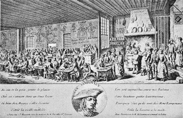 cafe ramponaux en paris siglo XVIII
