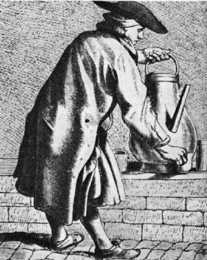 vendedor callejero de cafe en paris 1672-1689
