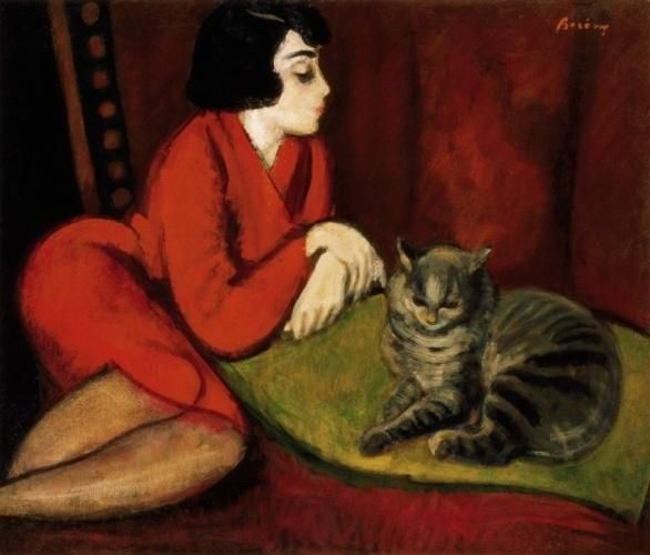 girl-on-divan-with-cat-eta-with-the-cat-by-rbert-berny-wallery-1375551663_b