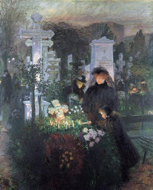 Noche de Todos los Santos, Franz Skarbina (1896).