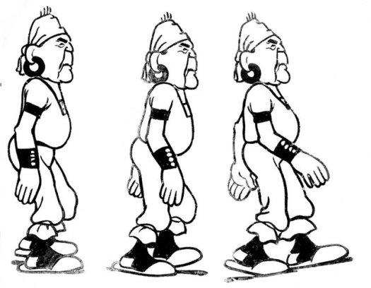 Caricatura de Hipólito Yrigoyen tal como se veía en la pantalla de cine