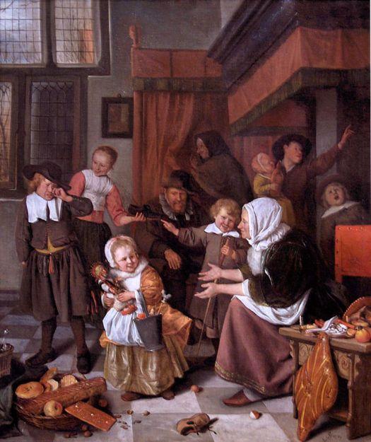 Fiesta de San Nicolás. Jan Steen.