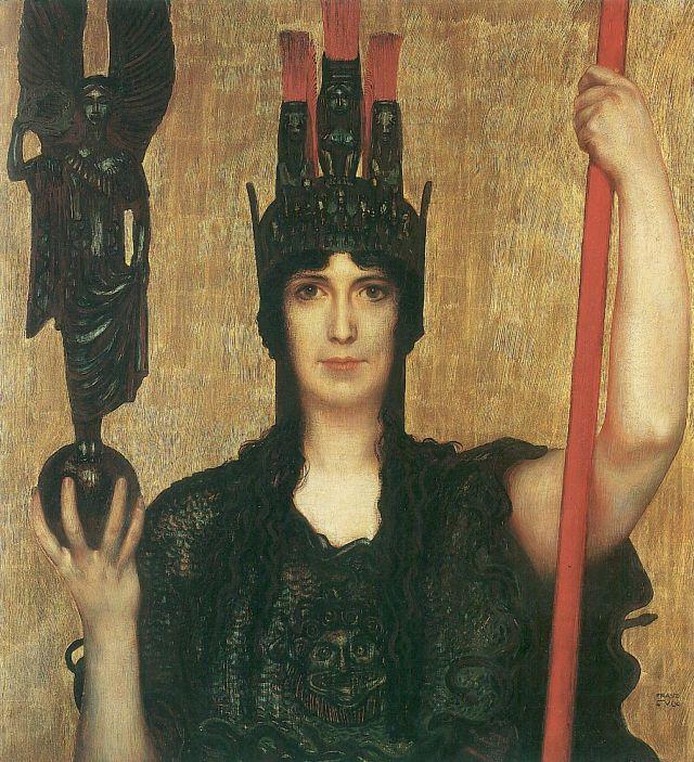 Pallas_Athena_-_Franz_von_Stuck_(1898)