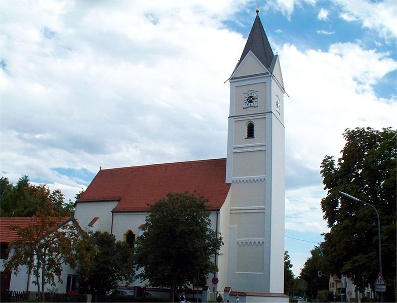 antigua iglesia de santa wilgefortis en Neufrahrn baviera