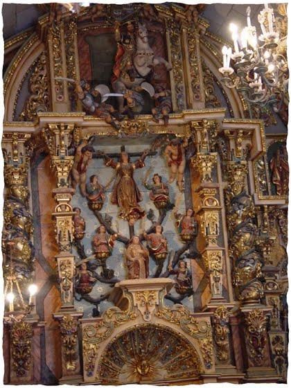 capilla santa Baiona Galicia santa Librada y SantiagoSanta Librada y sus ocho hermanas en Bayona de Tuy,