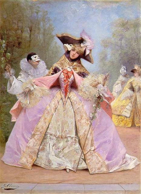 El baile de máscaras, Georges Clairin (1843-1919).