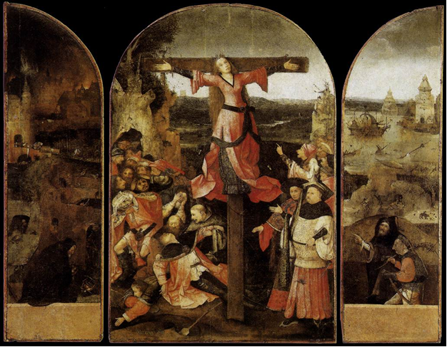 El Bosco, Tríptico del Martirio de Santa Liberata (1500-1504, Palacio Ducal de Venecia)