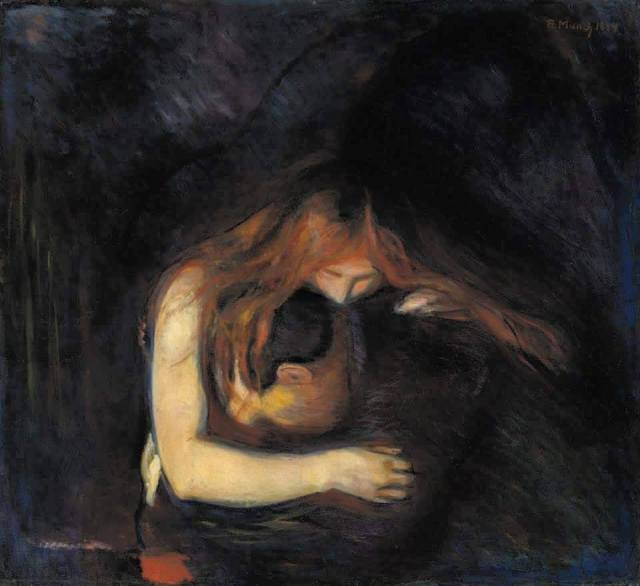 El Vampiro del Pintor Edvand Munch 1894