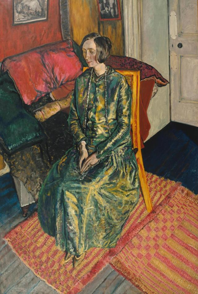 Dame Edith Sitwell exhibited 1919 Alvaro Guevara 1894-1951 Presented by Lord Duveen, Walter Taylor and George Eumorfopoulos through the Art Fund 1920 http://www.tate.org.uk/art/work/N03509