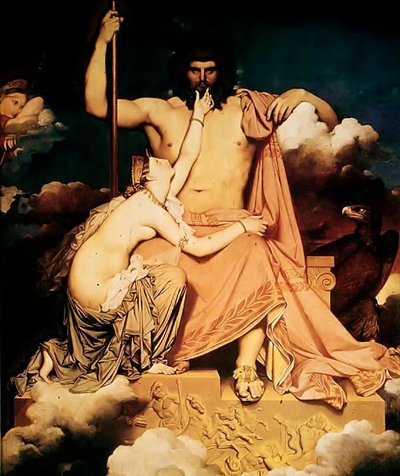 Júpiter y Thetis, Jean Auguste Dominique Ingres 1811