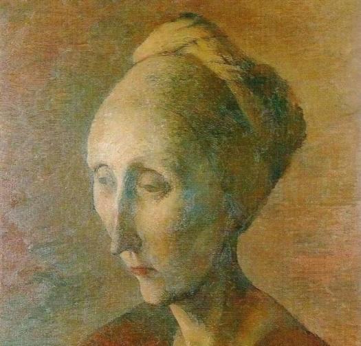 Un retrato de Dame Edith Sitwell, 1928 - Pavel Chelishchyov