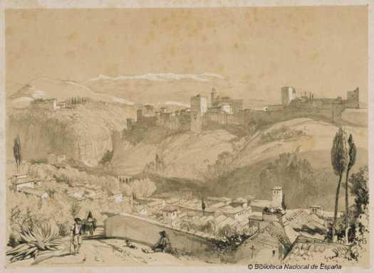 Alhambra-y-Albayzin-por-Lewis-1833-BNE