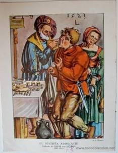 El dentista ambulante de Lucas de Leyden en 1523