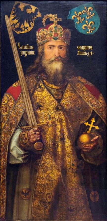 Retrato de Carlomagno, por Alberto Durero.