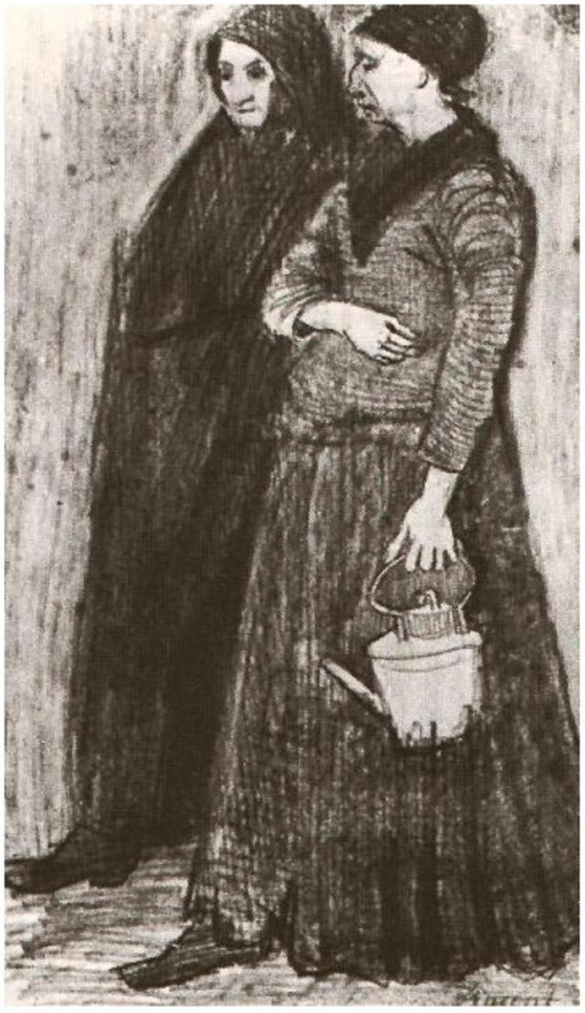 Sien_Pregnant,_Walking_with_Older_Woman_988a_Vincent_van_Gogh