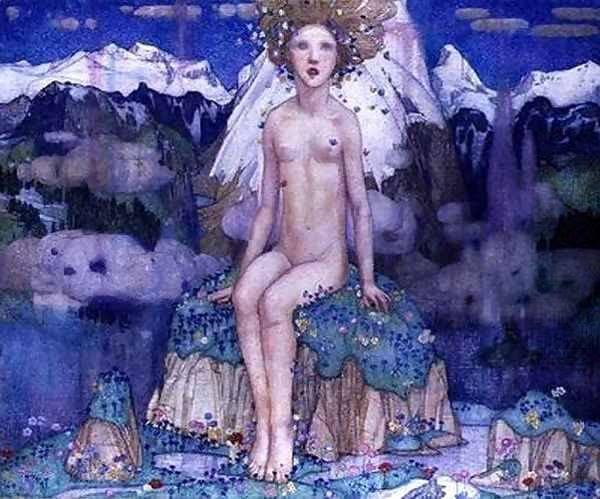 love in the alps... Edward Reginald Frampton (1872-1923) -