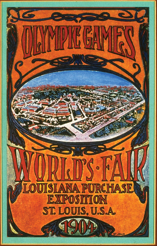 1 Jan 1999: An offical poster from the 1904 St Louis Olympic Games on display at the IOC Olympic Museum in Lausanne, Switzerland. Mandatory Credit: IOC Olympic Museum /Allsport