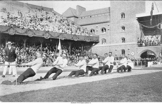 Estocolmo 1912. El equipo 1 de Sueca.