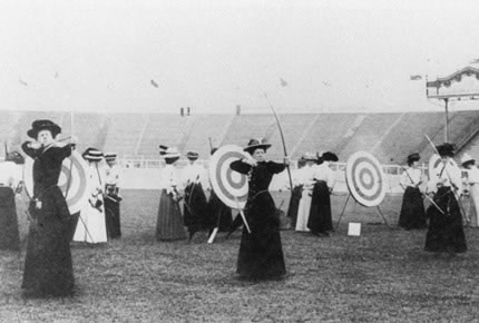 Tiro con arco femenino, Londres 1908_jpg