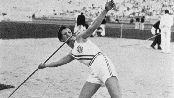 LOS ANGELES, CA - 1932: Mildred Babe Didrikson of the USA throws the javelin to win the gold medal during the Women's Track and Field javelin event at the 1932 Summer Olympic Games in Los Angeles, California. Didrikson was one of the most versatile sportswomen in the world, winning fame at the 1932 Games where she took both the 80 meter hurdles and javelin titles, and finished second in the high jump. Over a two year period, she continued to set world records in each event. She was an All-American basketball player but her more lasting fame came when she took up golf and won the Women's Amateur title once and the US Open on three occasions, the third time in 1953 after fighting cancer from which she died in 1956. (Photo by Getty Images)