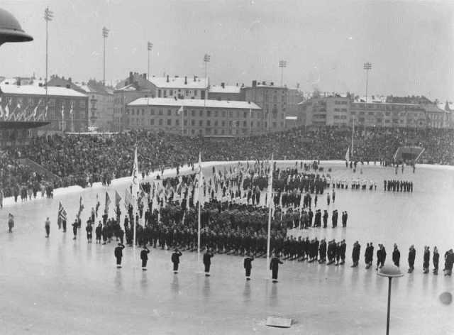 El estadio olímpico de Bislett acogió la ceremonia de apertura. juegos invierno oslo