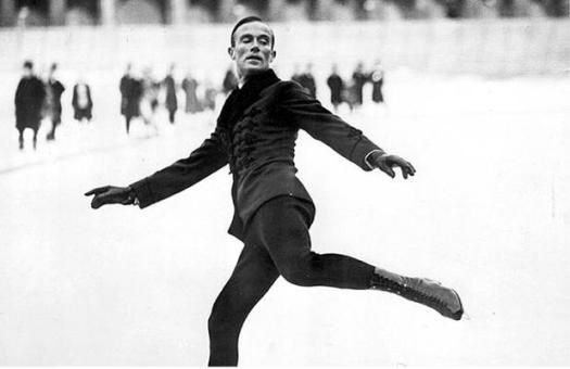 Gillis Grafström en los Juegos Olímpicos de Chamonix 1924.
