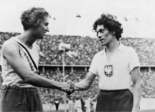 Helen Stephens (a la izquierda) y Stanislawa Walasiewicz (a la derecha)