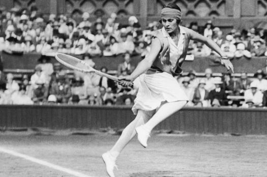 Lili Alvarez, la primera tenista espanola en Roland Garros.