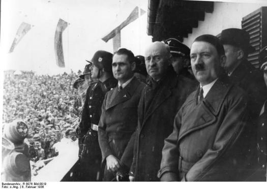 Eröffnung der IV. Winterolympiade. Der Führer, Baillet-Latour, Rudolf Hess