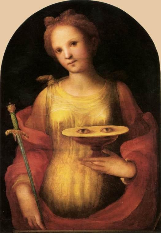 Lucía de Siracusa, de Domenico Beccafumi (1486-1551)