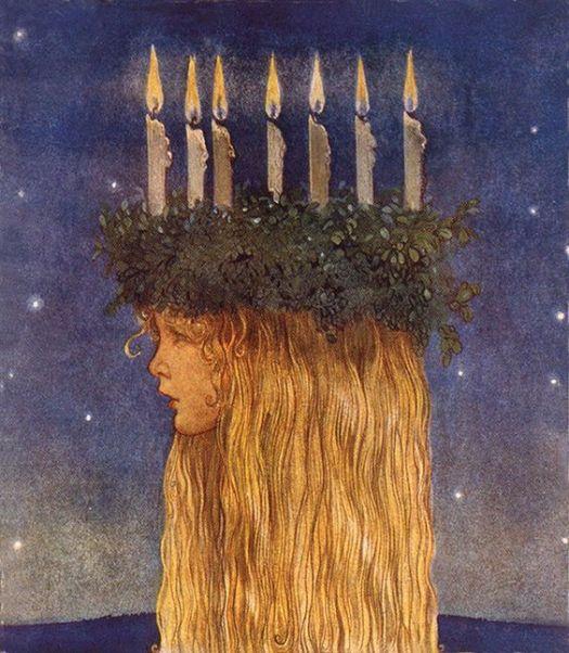 """John Bauer (1882-1918) ilustrador sueco del libro """"Bland Tomtar och Troll"""" (Entre los duendes y los trolls), un libro de cuentos publicado cada Navidad en Suecia."""