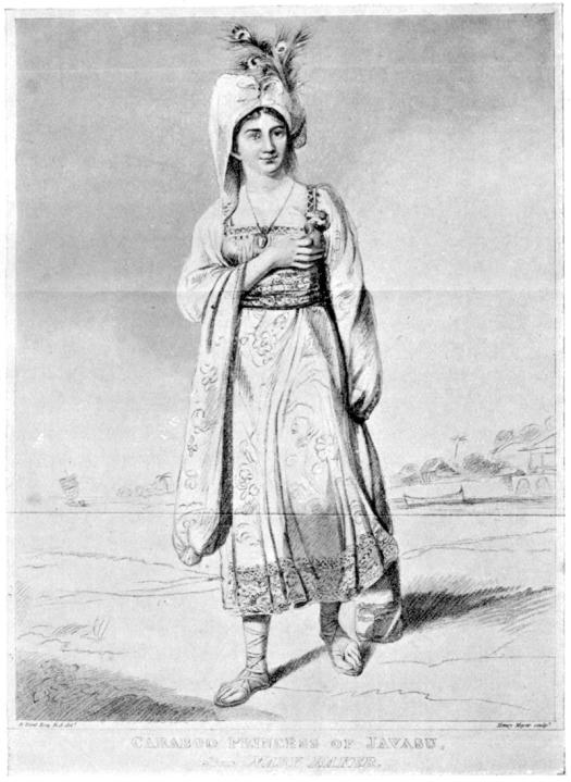 """""""Princesa Caraboo"""" a partir de un grabado de Enrique Meyer, sobre un cuadro de Edward Bird"""