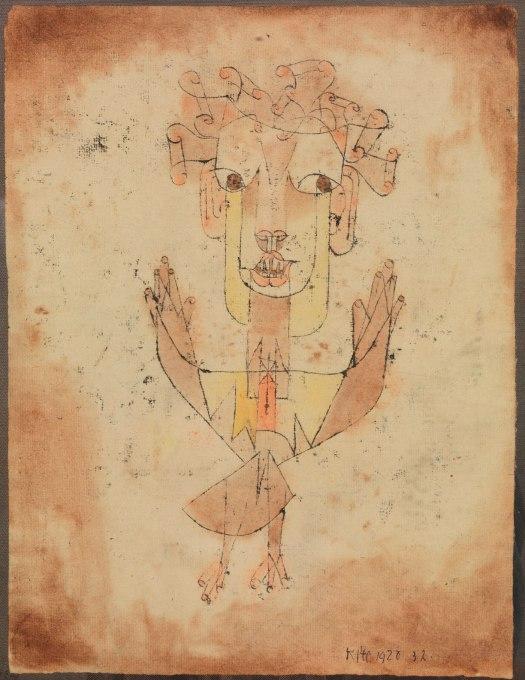 Imagen: Angelus Novus, de Paul Klee.