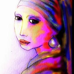 Boceto de AlmaLeonor por Monsila Mon, coloreado por Antonio Escolar